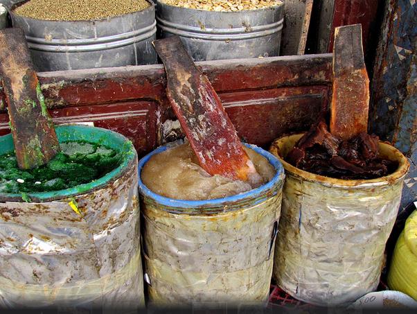 Sabão marroquino na feira